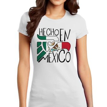 Hecho en Mexico Design - Mexican Flag Juniors T-Shirt by TooLoud