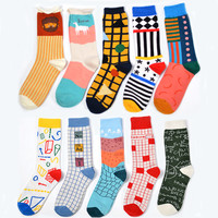 Men&Women brand happy socks For colorful Combed cotton style socks