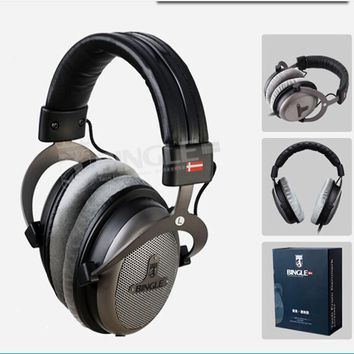 Bingle B-910-M Over-Head Headphones Studio Monitor Headphone Hifi Stereo DJ Monitoring Headset Music Earphone 3.5mm + 6.3mm Plug