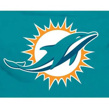 Miami Dolphins Flag 3x5 FT  Banner 100D Polyester NFL flag 135, free shipping