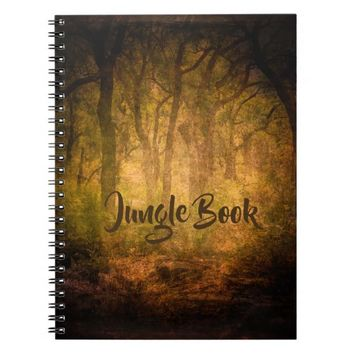 Deep dark Jungle forest theme note book