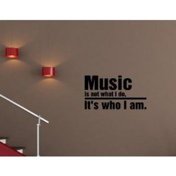 Music Wall art vinyl decals love life bedroom by EpicDesignsDecor