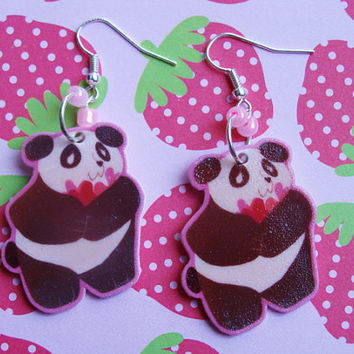 Love Panda Hook Earrings