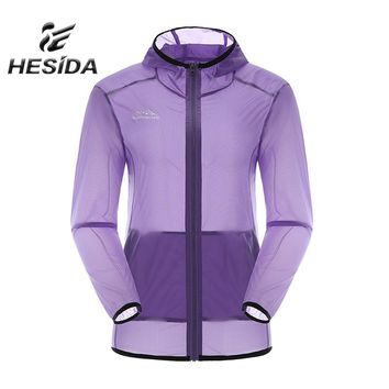 Anti-Uv Windbreaker Jacket Waterpoof Ultra Light Women Outdoor Clothing Female Coat Spring Sun Protection Quick Dry Camping Hood