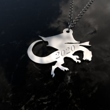 2020 Dragon pendant necklace sterling silver