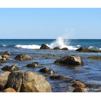 Gallery Wrapped Canvas Nature Print 11x14 Mansion Beach Waves