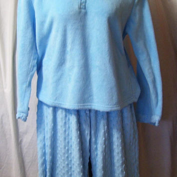 Blue Pajamas, Cuddle Soft, Size XL, Extra Large, Kim Rogers, Winter Sleepwear