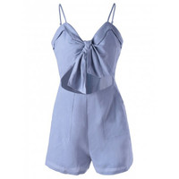 Fashionable Spaghetti Strap Cut-Out Romper For Women