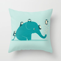 Waterslide Throw Pillow by Jay Fleck