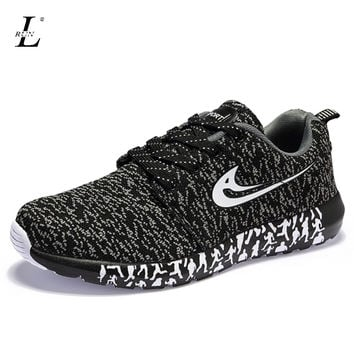 Men Women Sneakers Breathable Super Light Mesh Sports Running Shoes Flat Non-slip Outdoor Walking Jogging Shoes For Male Black