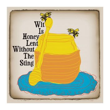 8 x 8 Honey Bee Proverb Print by KaraGunter on Etsy