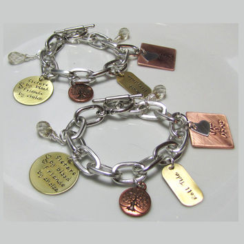 Sister's By Birth Friends By Choice  Mixed Metals Bracelet