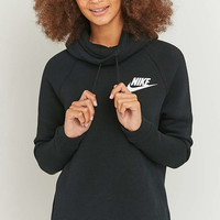 Nike Rally Funnel Neck Black Hoodie - Urban Outfitters