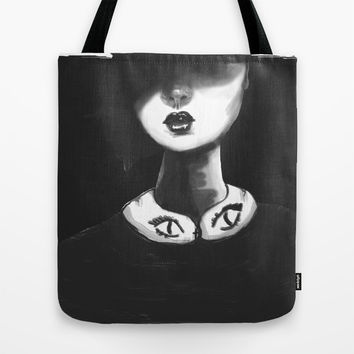 Contemporary Black and White Collar  Tote Bag by Ben Geiger