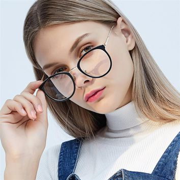 HUITUO European and American Fashion Retro Glasses Frame Men Transparent Eyeglasses Women Optical Spectacles Computer Glasses