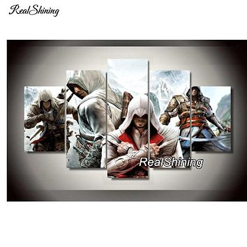 Assassin Creed 5d Diamond Painting Cross Stitch Needlework Full Square Mosaic diy Diamond Embroidery Handmade DM122