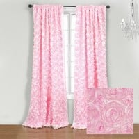 Wake Up Frankie - The Bouquet Panel - Pink : Teen Bedding, Pink Bedding, Dorm Bedding, Teen Comforters