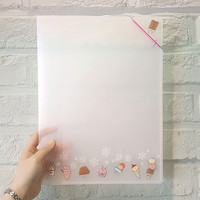 Ice cream translucent document file folder