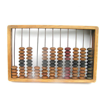 Abacus Soviet vintage primitive bookkeeping warm wooden rustic home decor retro Estonia maths mathematics