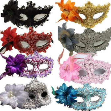 Flower Halloween mask sexy masquerade masks Dance Party Bar Princess Venice Mask High-grade Rose Party Mask Supplies