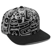 """Snapback Hat with """"The Ocean is Our Life Force"""" Design by Morgan Green, Tsimshian"""