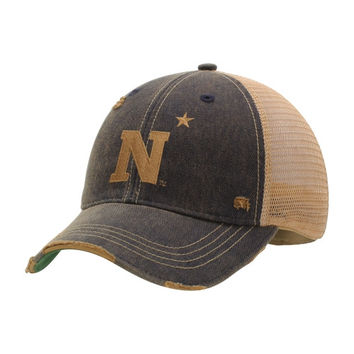 Navy Midshipmen Emblem Adjustable Hat - Navy Blue