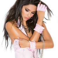 Vinyl wrist restraints with detachable chain  *Available Boxed Pink