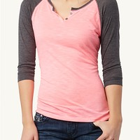 Notched Raglan Top