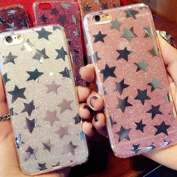 Sparkling stars phone case for iphone 5 5s SE 6 6s 6 plus 6s plus + Nice gift box 080901