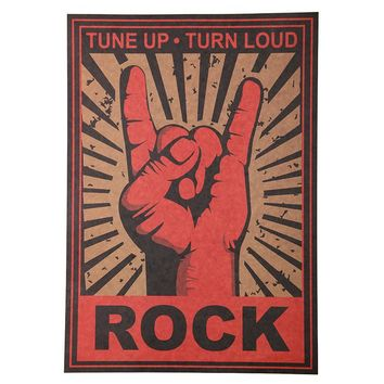 Continue Rock and Roll Rock Wall Decor Classic Nostalgia Metal Rock Decorative Posters