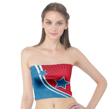 Abstract American Flag Background 23 2147507240 Tube Top