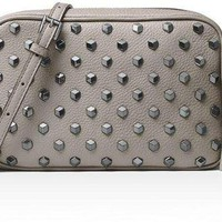 DCCKUG3 MICHAEL Michael Kors Women's Ginny Studded Medium Leather Camera Bag
