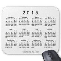 Black and White 2015 Calendar by Janz Mouse Pad