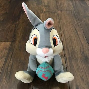 "RARE Disney Bambi Thumper Bunny Rabbit Easter Egg 10"" Plush Stuffed Animal"