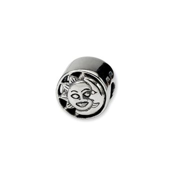 Sterling Silver Sun and Moon Bead Charm