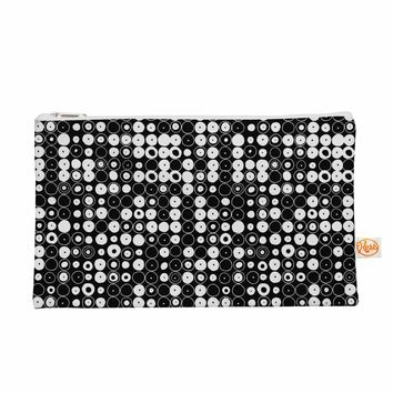 "KESS InHouse Nandita Singh ""White & Black Funny Polka Dots""Black Abstract Everything Bag, 8.4"" x 4"" (NS2046AEP03)"