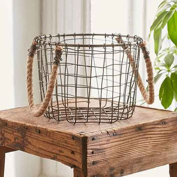 Cabo Rope Handles Basket