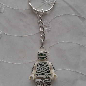 Mummy  keychain keyring  made with LEGO®  series 3 minifigure