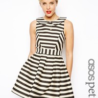ASOS PETITE Exclusive Striped Skater Dress at asos.com
