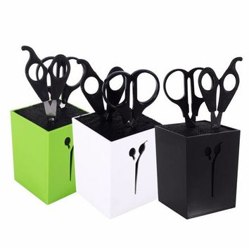 VONC1Y New 3Colors Hairdressing Haircut Combs Clamps Scissors Holder Stand Socket Tool
