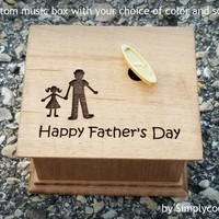 Daddy's girl - daddy and me - engraved music box, gift for daughter, custom music box, father of bride gift, love dad, father's day gift,