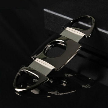 Stainless Steel Double Blade Cigar Cutter