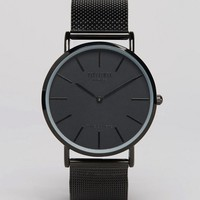 Reclaimed Vintage Inspired Classic Mesh Strap Watch In Black Exclusive to ASOS at asos.com