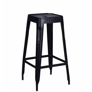 Modern Black Iron Xavier Pauchard Reproduction Tolix Style Bar Stool 71 cm