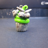 Oscar the Grouch Cupcake Charm - Cute and Handmade