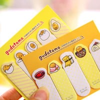1 Pcs Cute Cartoon Kawaii Yellow Eggs Gudetama Paper Memo Pad Post It Note Emoji Sticky Kids Creative Gift Korean Stationery