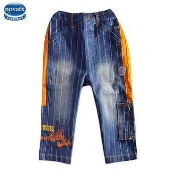 novatx B026 2018 new design boys jeans kids wear children's jeans boys high quality cowboy pants jeans kids jeans for baby boy