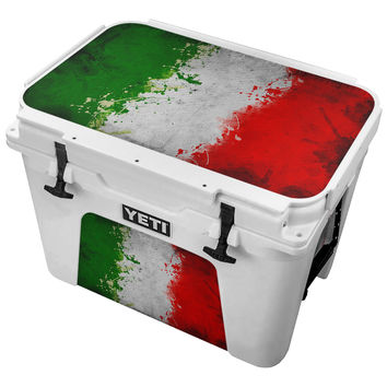 Mexican Flag Splattered With Paint Skin for the Yeti Tundra Cooler