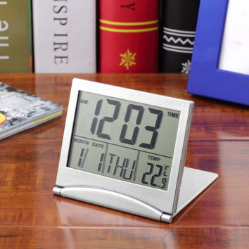 2016 New Quality  Simple Desk Digital LCD Thermometer Calendar Desktop Alarm Clock Electronic  hot
