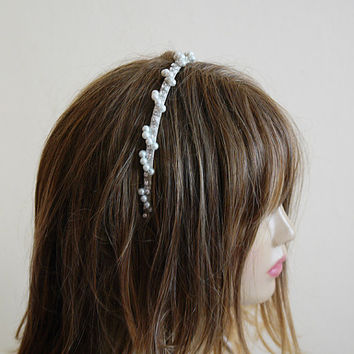 Wedding Crown, bridal tiara, headpiece, Bridal Hair Accessory,  Hair Wreaths, Rhinestone and Pearl, headband, Wedding hair Accessories, etsy